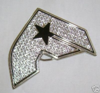 NEW FAMOUS STARS STRAPS SILVER BELT BUCKLES BOH LARGE STONES!