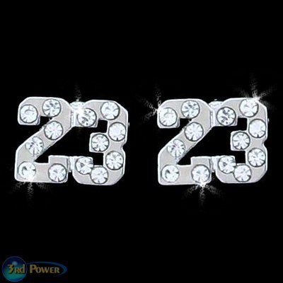 MICHAEL JORDAN LOGO SILVER STUD EARRINGS NEW JEWELRY 23 LEBRON JAMES CAVALIERS BULLS