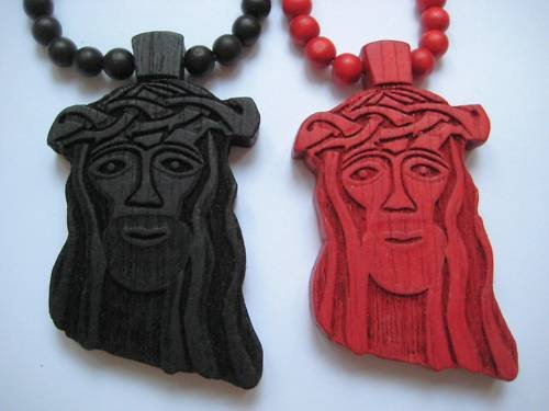 2 New Goodwood Good Wood Jesus NYC Replica Pendant Charm Necklace Chain Red Black Hip Hop