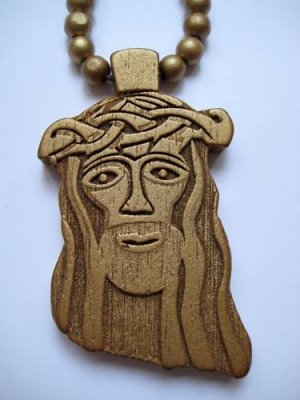 New Goodwood Good Wood Jesus NYC Replica Pendant Charm Necklace Chain Gold Hip Hop