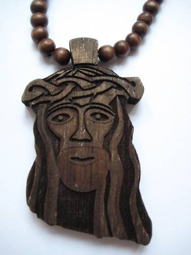 New Goodwood Good Wood Jesus NYC Replica Pendant Charm Necklace Chain Brown Hip Hop