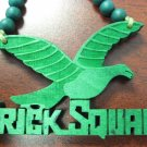 GREEN BRICK SQUAD SOULJA BOY WOOD PENDANT PIECE NECKLACE NEW