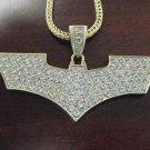 BATMAN THE DARK KNIGHT GOLD PENDANT CHARM CHAIN NECKLAC