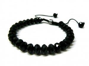8mm Black Faux Onyx Rick Ross Shamballa Bracelet MB33