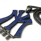 New York Entertainment NY ENT Black Necklace Pendant P597H-BL