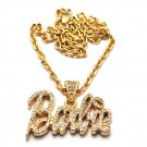 Nicki Minaj Barbie Small Necklace Pendant - Gold Clear MZ34G