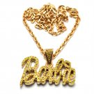 Nicki Minaj Barbie Small Necklace Pendant - Gold Yellow MZ34G-Y
