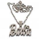 Nicki Minaj Barbie Small Necklace Pendant - Silver Clear MZ34R