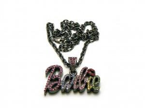 Nicki Minaj Barbie Small Necklace Pendant - Black Color MZ34H-M