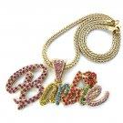 Nicki Minaj Barbie Necklace Pendant - Gold Color MP655G-M