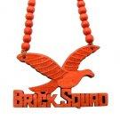 Red Wood Brick Squad Necklace Pendant Soulja Boy WJ15RD