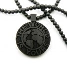 Black Wood World Is Yours Scarface Necklace Pendant WJ18BK