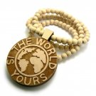 Natural Wood World Is Yours Scarface Necklace Pendant WJ18NL