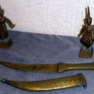 Brass East Indian themed dancers and letter opener