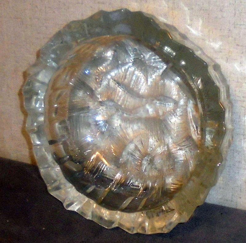 Lead Crystal Candy Trinket Dish
