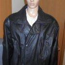 Men's Black Leather Motorcycle Jacket City Streets XL (46 - 48)