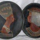Rare metal plates Nefertiti Cleopatra UAR