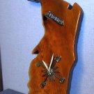 Large Florida shaped clock woodcraft