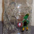 Large glass tankard mug stein Winking Lizard Tavern