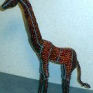 Iron Wire and Beadwork Giraffe figurine Besmo