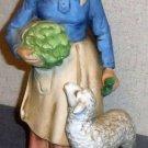 Female Woman with Lamb Figurine
