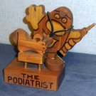 Wood craft Podiatrist figurine