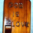 God Is Love Wooden plaque planter Jesus