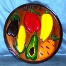 Haiti handcrafted plaque vegetables