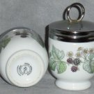 Two Lavinia Egg Coddlers Worcester England