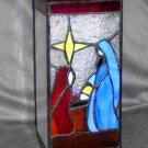 Stained Glass Lamp Shade Nativity Jesus Joseph Mary