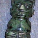 Green stoneware Tiki Figurine Totem Statue