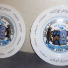 Two Collectible Anniversary Plates Grand Lodge of MA St. John's