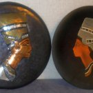 Two Egyptian Themed Plates Nefertiti Queen