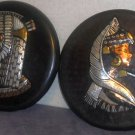 Two Egypt Themed Plates Cleopatra
