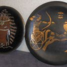 Two Egypt Themed Decorative Plates Chariot