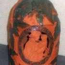 Ceramic Handcraft Jar floral child leaves