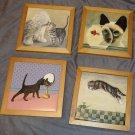 Four Cat Plaques Lowell Herrero Valcor