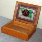 Stained Glass Rose Box