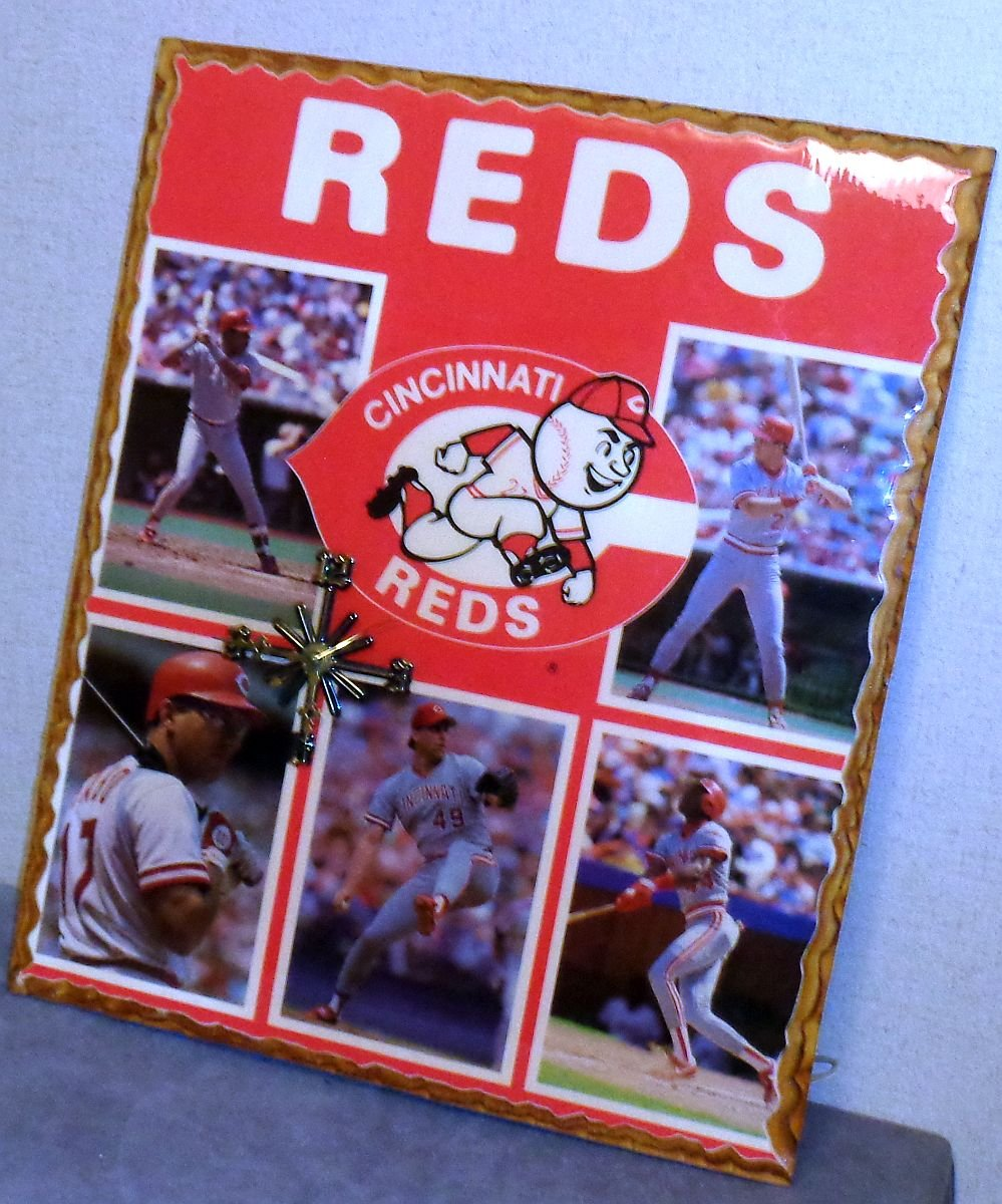 Cincinnati Reds Clock MLB Baseball