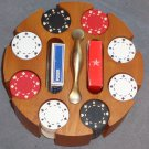 Poker Caddy with Two Card Decks Chips