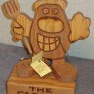 Wood Sculpture The Farmer Don Mars