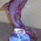 Lavender Crystal Dolphin in Repose