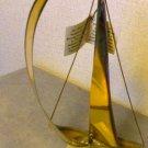 Signed Handcraft Sailboat Onyx Brass