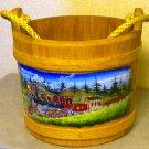 Handmade Woodcraft Bucket Train Image