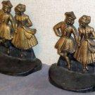 USA Made Cast Iron Bookends Dancers