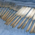 22 Pieces Old Silver Plate Forks Knives