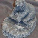 Hand Carved Polar Bear Figurine Alaska