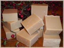 2~ BAR COTTON BLOSSOMS PRIMITIVE RECIPE  GOATMILK SOAP