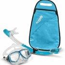 PRODIVE Premium Dry Top Snorkel Set - Impact Resistant Tempered Glass Diving Mas