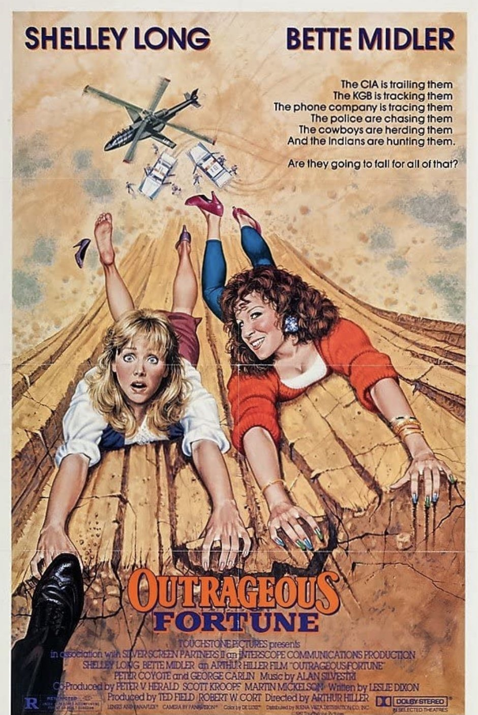 Outrageous Fortune - 1987 - Blu Ray RARE